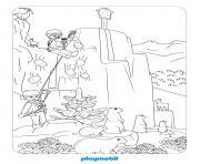 playmobil la vie a la montagne dessin à colorier