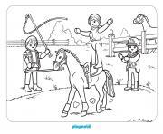 playmobil se pratique pour le cirque dessin à colorier