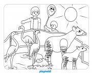 animaux playmobil le dierentuin dessin à colorier