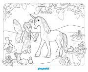 playmobil fee et licorne 2 dessin à colorier