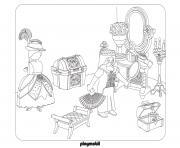 playmobil palais de princesses dessin à colorier