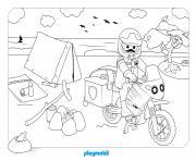 playmobil camping 2 dessin à colorier