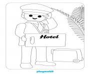 playmobil hotel dessin à colorier