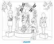playmobil le grand magasin dessin à colorier