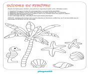 playmobil mer et plage dessin à colorier
