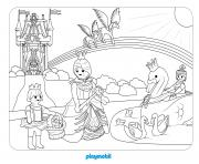 playmobil pavillon de crista dessin à colorier