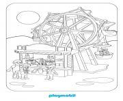 playmobil la fete foraine 3 dessin à colorier