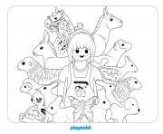 playmobil le veterinaire dessin à colorier