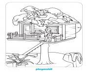 maison de playmobil dessin à colorier