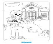 playmobile le veterinaire 2 dessin à colorier