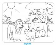 animaux playmobil le dierentuin 3 dessin à colorier