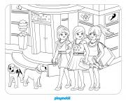 playmobil le grand magasin 3 dessin à colorier
