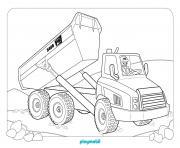 playmobil chatier de construction dessin à colorier