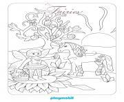 playmobil fee et licorne 3 dessin à colorier