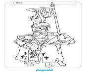 playmobil sur un cheval knights dessin à colorier