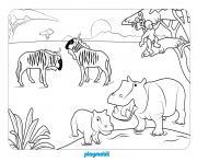 animaux sauvages 2 dessin à colorier