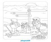 playmobil la vie a la montagne 2 dessin à colorier