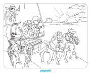 playmobil western 2 dessin à colorier