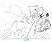 playmobil chatier de construction 3 dessin à colorier