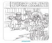 playmobil western chevaux dessin à colorier