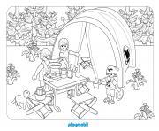 playmobil camping 3 dessin à colorier