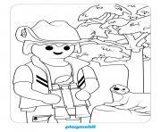 playmobil pres dun arbre dessin à colorier