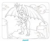 playmobil au pays des dragons 2 dessin à colorier