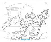 playmobil au pays des dragons dessin à colorier