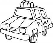 vehicule de police americain dessin à colorier