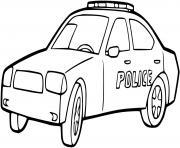 voiture de police americaine dessin à colorier