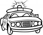 vehicule de police canadienne dessin à colorier