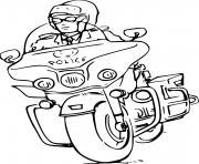 moto de police dessin à colorier