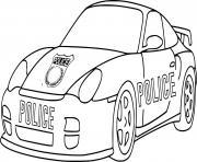 voiture de course porsche police dessin à colorier