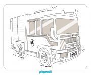 camion de pompier de Playmobil PMR6S dessin à colorier