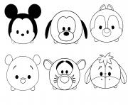 Coloriage tsum tsum disney facile