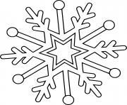flocon de neige dessin à colorier