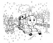 Moteur a vapeur Thomas dessin à colorier