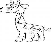 bebe girafe dessin à colorier