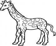 girafe a colorier dessin à colorier