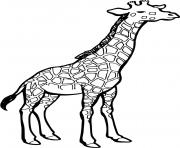 dessin d une girafe dessin à colorier