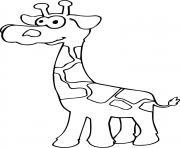 girafeau dessin à colorier