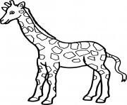 une girafe a colorier dessin à colorier