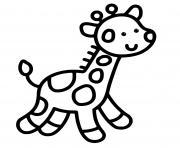 girafe maternelle bebe facile dessin à colorier