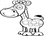 animaux girafe pour petit dessin à colorier