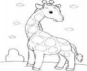 girafon dessin à colorier