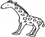 la girafe dessin à colorier