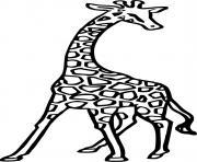 une girafe dessin à colorier