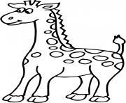 petite girafe dessin à colorier