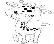 bebe girafe maternelle dessin à colorier