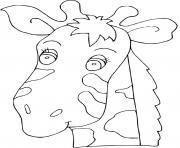 tete de girafe dessin à colorier
